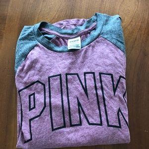 PINK Baseball Style Shirt